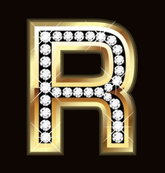 r bling vector image vector image