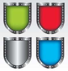 Shields set icon vector image vector image