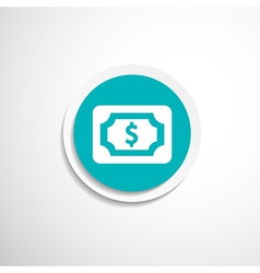 Flat icon of money market business sign symbol vector image