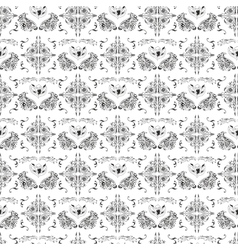 Luxury damask pattern vector image vector image