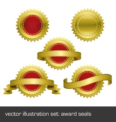 medallions scrolls ribbons vector image vector image