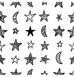 seamless pattern with christmas vector image vector image
