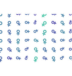 Abstract sign of male or female generative art vector