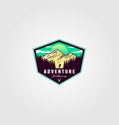 adventure travel badge vintage logo vector image