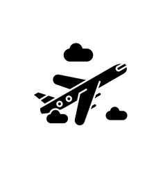 air delivery black icon sign on isolated vector image