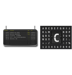 Airline departure board isolated analog vector