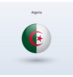 Algeria round flag vector