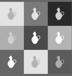 amphora sign grayscale vector image