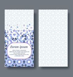 Arab card design for invitation celebration save vector