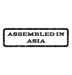 Assembled in asia watermark stamp vector
