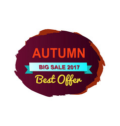 autumn best offer big sale vector image