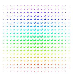 banana icon halftone spectral effect vector image