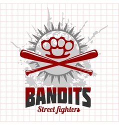Bandits and hooligans - emblem of criminal vector image