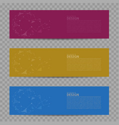 banner design background set vector image