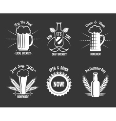 Beer craft labels vector image