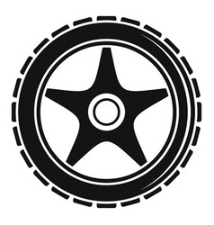 Bike wheel icon simple style vector