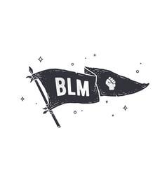 black lives matter blm flag graphic vector image