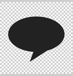 blank empty speech bubble icon in flat style vector image
