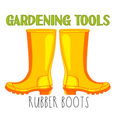 bright colorful cartoon rubber boots vector image