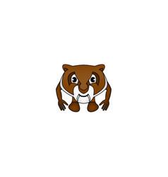 Brown tiger vector