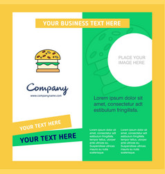 burger company brochure template busienss template vector image