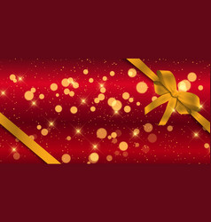 christmas banner with gold ribbon vector image