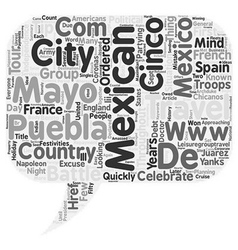 Cinco de Mayo text background wordcloud concept vector image