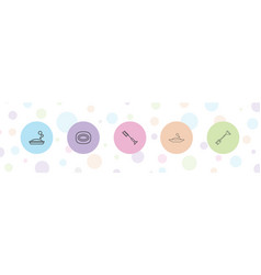 Cleanliness icons vector