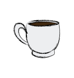 Coffee cup beverage fresh morning vector