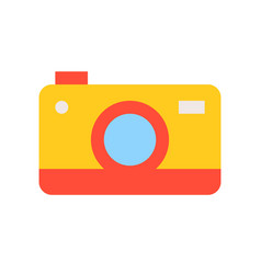 colorful camera flat icon on white background vector image