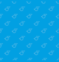 cornet pattern seamless blue vector image
