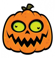 crazy pumpkin vector image