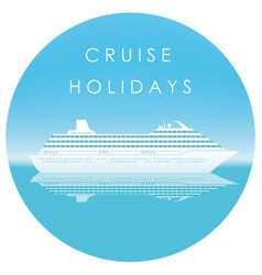 Cruise liner in the sea with text space vector