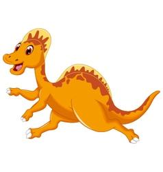 Cute dinosaur cartoon posing vector image