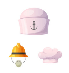 design of headgear and cap symbol set of vector image