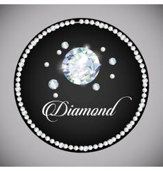 Diamond icon Elegant concept Gem design vector image
