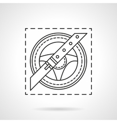 Driver safety flat line icon vector