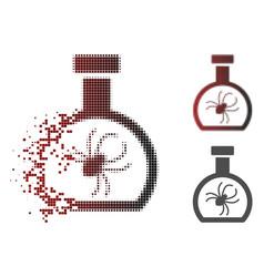 Dust pixelated halftone parasite container retort vector
