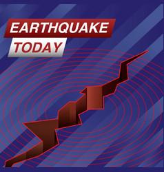 Earthquake today news banner vector