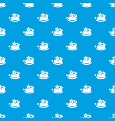 eco spa soap pattern seamless blue vector image