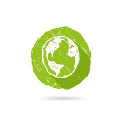 Flat icon earth vector