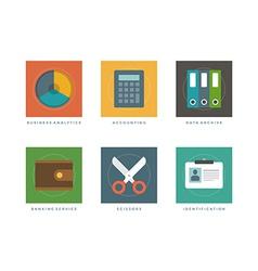 Flat infographic design elements vector image