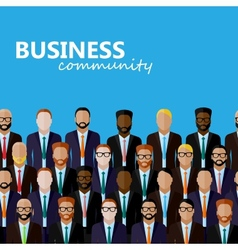 flat of business or politics community a large vector image