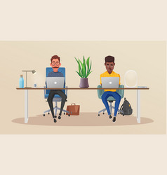 funny business characters working vector image