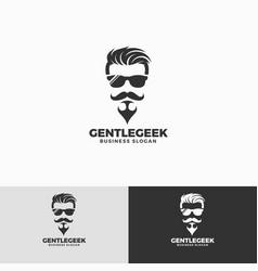 Gentle geek logo template vector