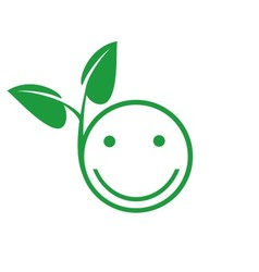 green smile on white background vector image