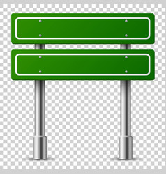 green traffic sign road board text panel vector image