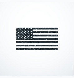grunge monochrome usa flag vector image