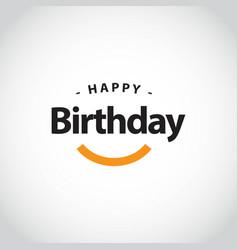 Happy birthday template design vector