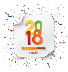 Happy new year 2018 loading colorful desig vector